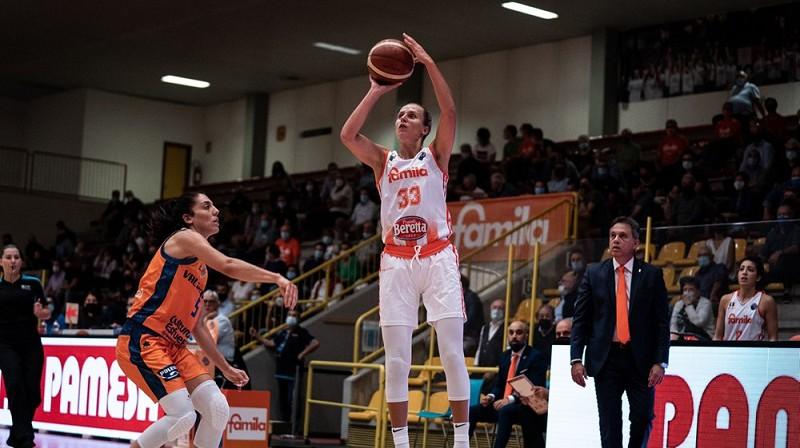 Kitija Laksa 2021. gada 21. septembrī. Foto: EuroLeague Women