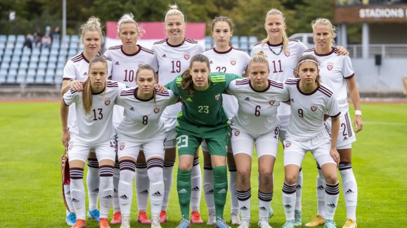 Latvijas sieviešu futbola izlase. Foto: LFF