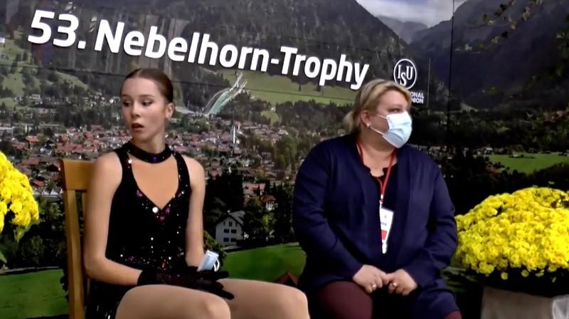 Anete Lāce un trenere Alma Lāce. Foto: Nebelhorn Trophy