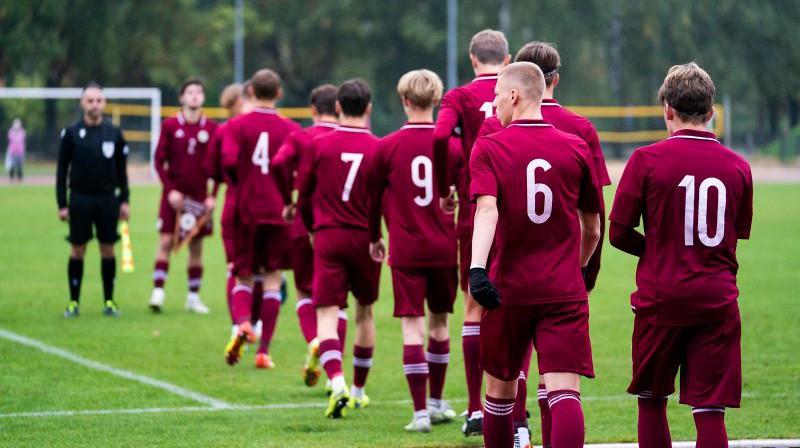 Latvijas U17 izlases. Foto: LFF