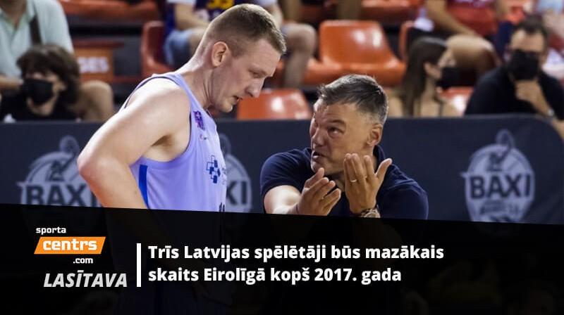 Rolands Šmits un Šarūns Jasikēvičs. Foto: Barca Basket