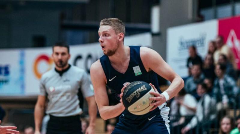 Līgas rezultatīvākais spēlētājs Miks Jurkatamms. Foto: Catherine Kõrtsmik Photography/TalTech Basketball